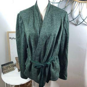 Anthropologie Cartonnier Wrap Jacket Green XL